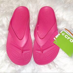 Crocs Kadee II Pink Flip Flop Sandal-8 NWT